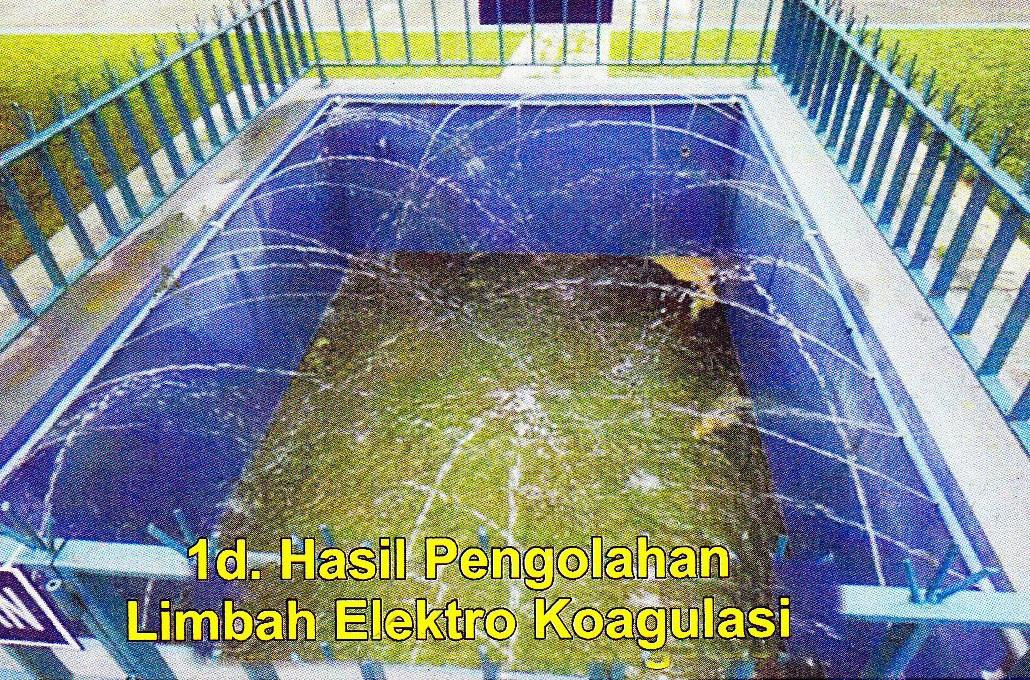 hasil pengolahan limbah elektro koagulasi